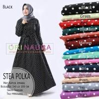 Gamis Muslimah Dress Katun Jepang (STEA POLKA) Ori Naura