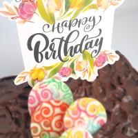 (CTB-BDAY004) TOPER hiasan kue ulang tahun ukuran besar cute