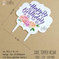 (CTB-BDAY003) TOPER hiasan kue ulang tahun ukuran besar cute