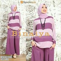 Gamis / Baju / Pakaian Wanita Muslim Binaiya syari set 3in1