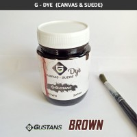 Cat Sepatu Canvas & Suede Dye Brown - 200mL Gustans