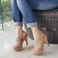 Jual sepatu kets Isabel THALIA Sepatu Wanita Hak Tinggi Gladiator Heels Murah