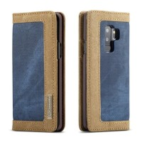 Flip Cover Canvas Denim Slot Card Cover Case Casing HP Samsung S9 2018