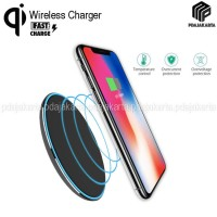 Wireless Charger Slim Pad Aluminum Fast Charge For Samsung/iPhone