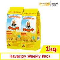 Haverjoy Weekly Pack Rolled Oats 1kg - 2 Pcs
