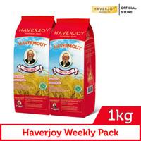 Haverjoy Weekly Pack Instant Oats 1kg - 2 Pcs