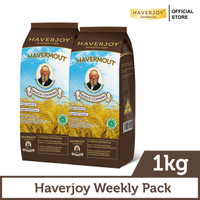Haverjoy Weekly Pack Quick Cooking Oats 1kg - 2 Pcs