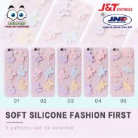 Softcase 3D Pink Silicone Fashion First Berkualitas Hp Apple iPhone 7