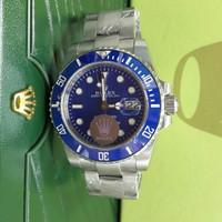 Jam Tangan Pria Mewah Rolex Submariner Blue Dial Swiss Eta 1:1
