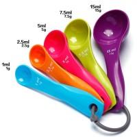 Sendok Takar Set 5 in 1 Warna Warni Sendok Ukur Bumbu Measuring Spoon
