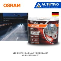 Aksesoris Mobil Eksterior Honda City LED Osram Head Lamp NBR H4 Laser