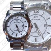 Jam Tangan Mirage Rantai Silver + Tanggal 01 (3 ATM water resistant)
