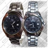 Jam Tangan Mirage Rantai Silver + Tanggal 02 (3 ATM water resistant)