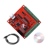 USB MACH3 Breakout Board 4 axis 100Khz CNC Controller Driver +Kabel+CD