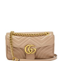 GUCCI GG MARMONT SMALL QUILTED DUSTY PINK SHOULDER BAG ORIGINAL