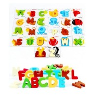 Mainan Edukasi Anak British Card With Wooden Alphabet Letters