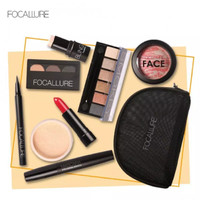 FOCALLURE 8Pcs Set Brush untuk Bedak / Eyeshadow / Lipstick / Blush On
