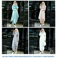 Baju Muslim Wanita Tunik Panjang Blouse Ala Hijabers Selebgram