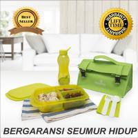 Kotak Tempat Makan - Botol Minum - Duo Simple Set Green - Tupperware