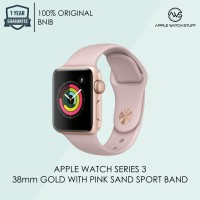smartwatch jam pinta keren Apple Watch Series 3 GPS 38mm Gold Alum wi