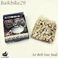 Rantai YBN MK918 Single Speed Half Link Gold BMX Fixie Dll
