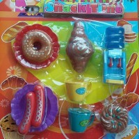 Mainan Kitchen set edisi Makanan Ringan Snack Time