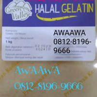 1kg 1000gr serbuk bubuk murni gelatin gelatine powder sapi halal MUI