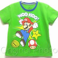 Baju kaos karakter anak laki-laki Mario Bross 1-6
