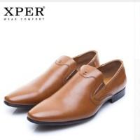 Harga original impor xper brand fashion men dress shoes slip on business   antitipu.com