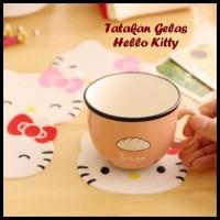 Tatakan Gelas Hello Kitty
