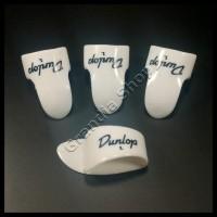 Dunlop Set Finger & Thumb Pick White Pik Jari Jempol Gitar