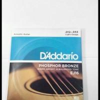 Senar Gitar Akustik 012 Phospor D'Addario Ej 16 Original Usa