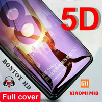 TEMPERED GLASS 5D XIAOMI MI 8 MI8 FULL LEM COVER LAYAR HP CURVE 9H