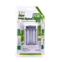 Baterai plus casnya BTY-809 rechargeable battery baterai charger 2 AA