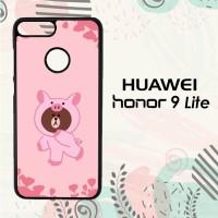 Casing Huawei Honor 9 Lite Custom HP Brown Piggy Pink LI0209