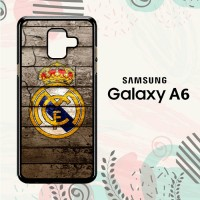 Casing Samsung Galaxy A6 2018 Custom HP Real Madrid Logo LI0249