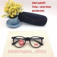 free lensa minus photochromic frame kacamata pria wanita levis round
