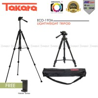 TAKARA ECO-193A Lightweight Tripod With Pouch/Tas/Bag Holder Satoo