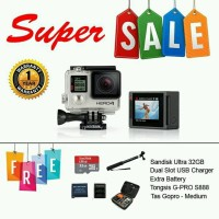 GoPro Hero 4 Silver Edition, FREE Sandisk Micro SD 32GB + Tong new