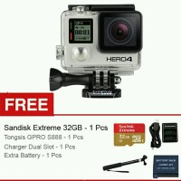 GoPro Hero 4 Black Edition + Gratis Sandisk Extreme 32GB + Cha new