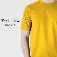 Kaos Polos Baju Dewasa Pria Lengan Pendek warna Kuning Emas - DLD12