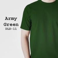 Kaos Polos Baju Dewasa Pria Lengan Pendek warna Hijau Army - DLD11