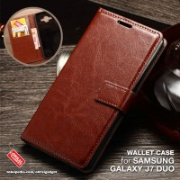 Wallet Leather Flip Case Samsung J7 Duo 2018 Flipcase Cover Casing