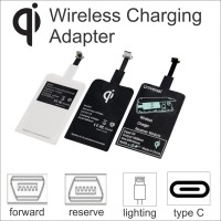 Adapter Wireless Charging Add on Qi Smartphone Receiver
