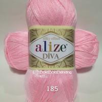 Benang Rajut - Alize Diva Plain 185 Baby Pink