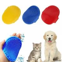Sisir Karet Oval Mandi Kucing Anjing & Kelinci
