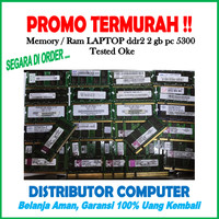 SODIMM DDR2 2GB PC5300 ( Memory / Ram Laptop / Sodim 2 Gb Second )