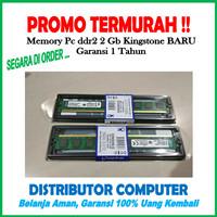 RAM DDR2 2GB PC6400 KINGSTONE BARU (MEMORY KOMPUTER DDR2 2 GB PC 6400)