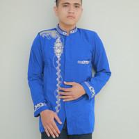 Jasko Jas Koko Biru Nikah Baju Koko Lengan Panjang Al Muttaqin JKH 126