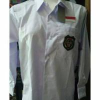 Kemeja putih seragam bed bordir sd smp smA lengan panjang